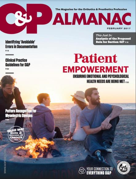 Cover image on O&P Magazine