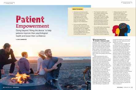 Patient Empowerment article for O&P Magazine