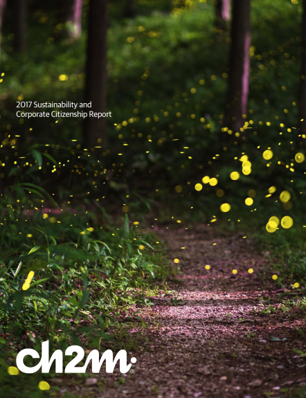 CH2M Annual Report Magazine- Front cover